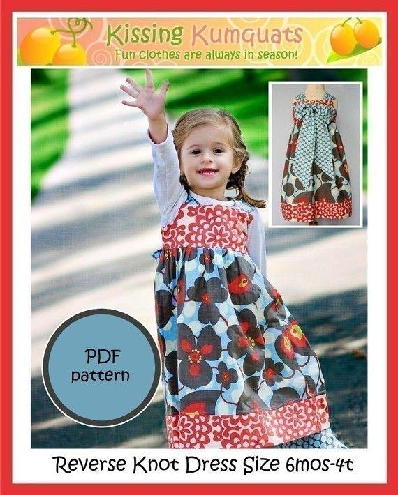 Kissing Kumquats Reverse Knot Dress PDF Sewing by kissingkumquats, $11.00