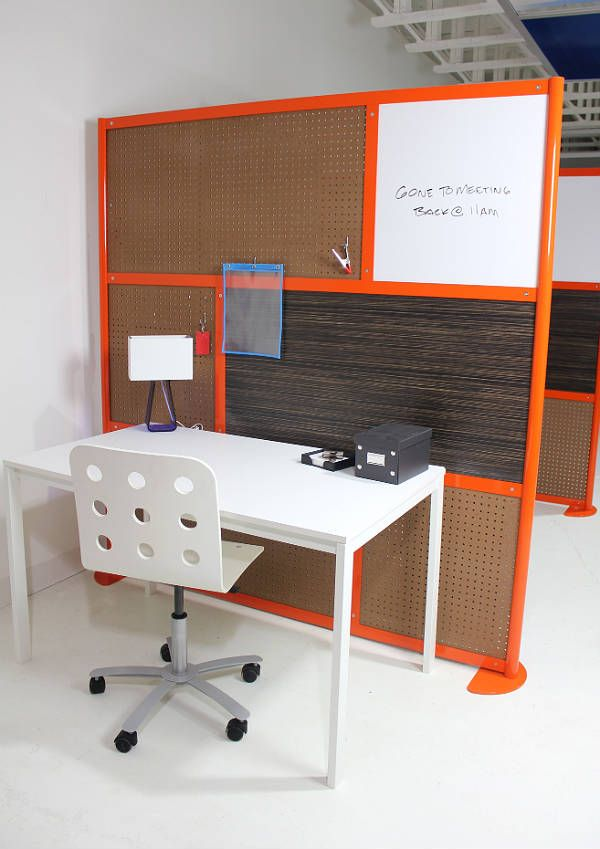 6 Screen With Pegboard Dry Erase Wood Laminate Custom Frame Color