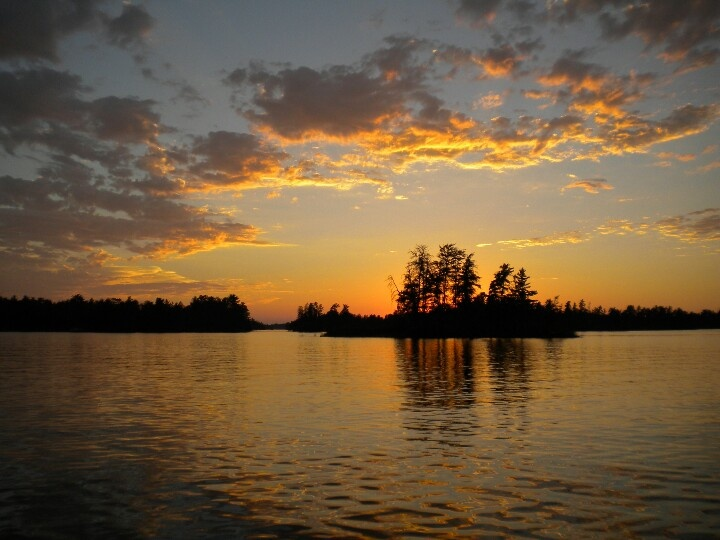 Sunset on Rainy Lake, MN.  I grew up here.
