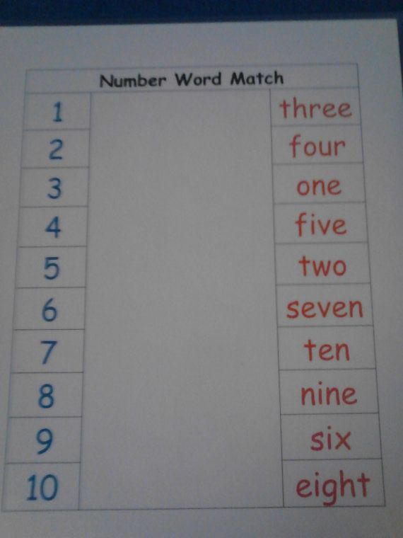 20 best ideas about number words on pinterest cut and paste 1st grade math and writing numbers. Black Bedroom Furniture Sets. Home Design Ideas