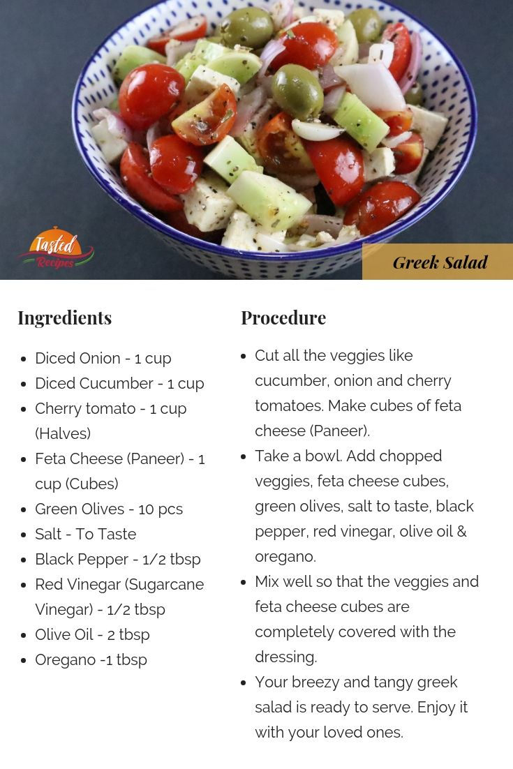 Salad Recipes With Ingredients And Procedure
