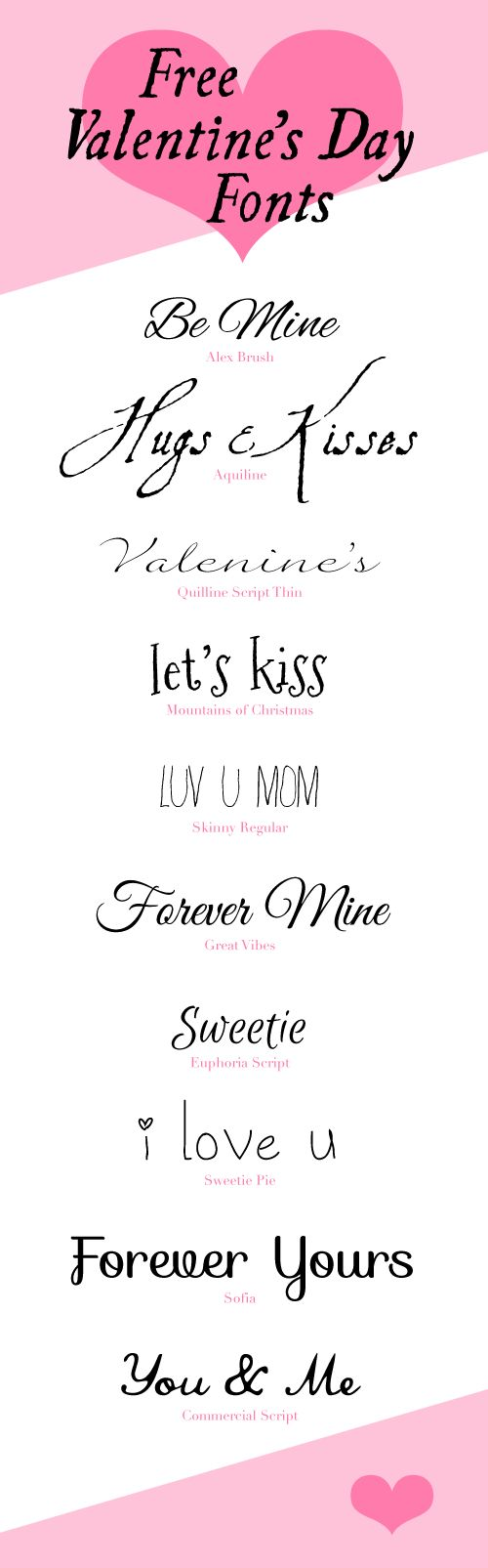 Valentine Day Fonts
