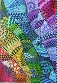 Google images for Zentangle color.  Crazy amazing will I ever be able to do this: Art Zentangle, Sketchbook Idea, Colourful Zentangle, Zentangle Doodle, Zentangle Doodles, Doodle Art, Zentangle Color