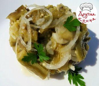 Баклажаны со вкусом грибов. Очень вкусная закуска