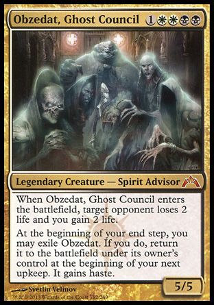 Magic the Gathering Card Reviews: Obzedat, Ghost Council from Gatecrash - #Bubblews #mtg