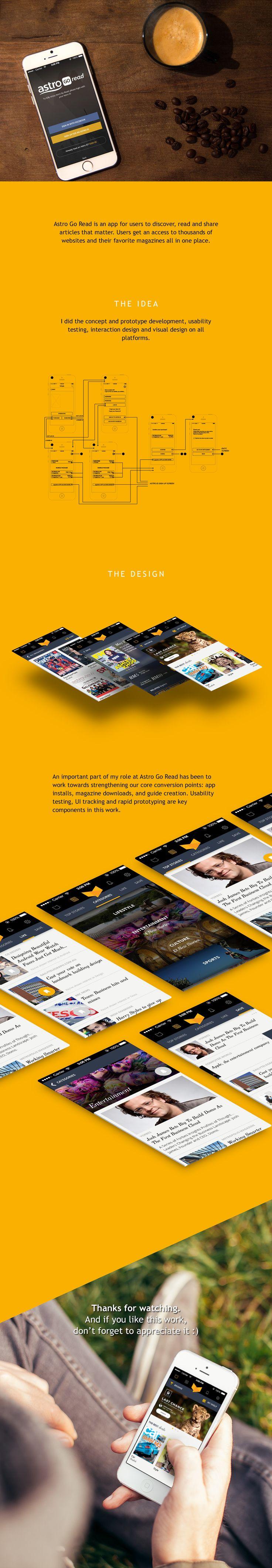 Astro Go Read App Redesign on Behance