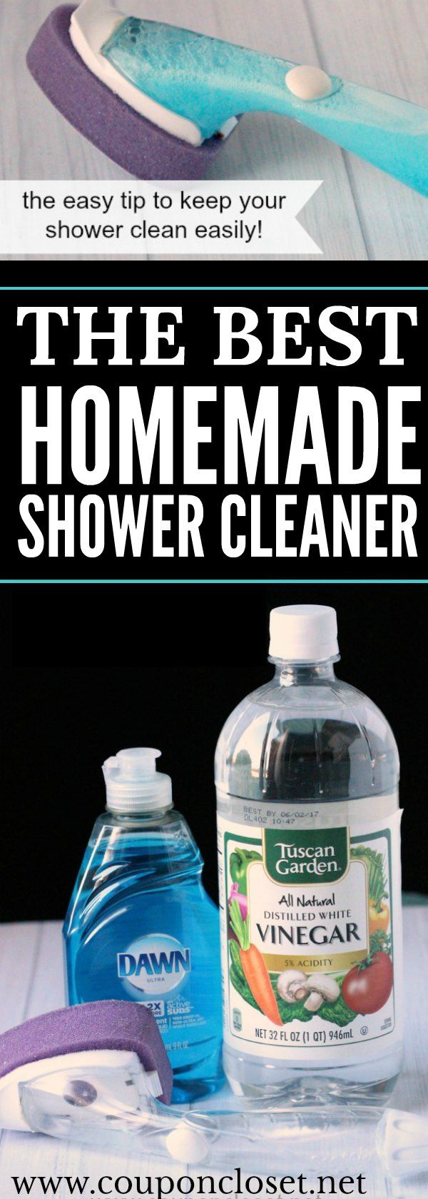 Check out the best homemade shower cleaner. Only 2 ingredients and it's much easier than you might think. No harmful fumes and it cleans so good.