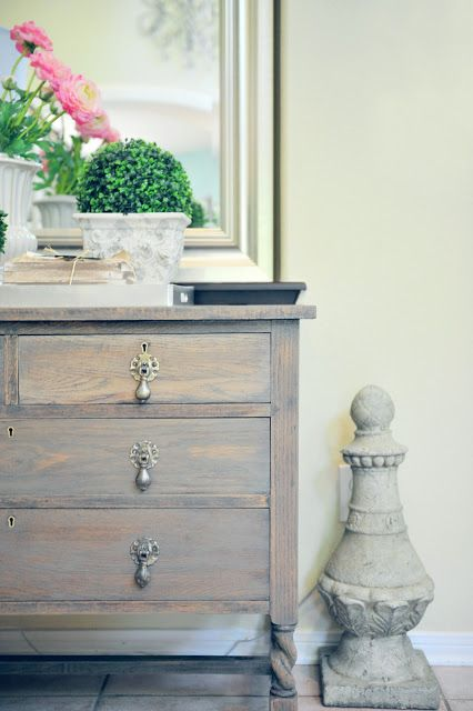 Dresser Makeover With Driftwood Gray Stain Paint Love