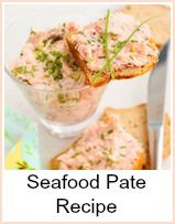 This seafood pate recipe is really delicious served with thin melba toast…