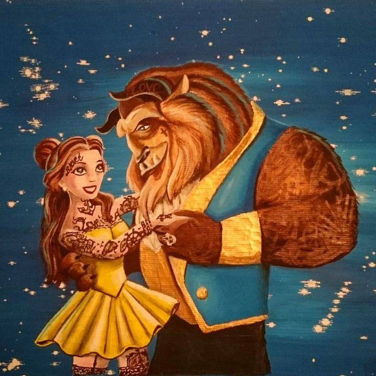 tattoed beauty and the beast...looove Disney movies