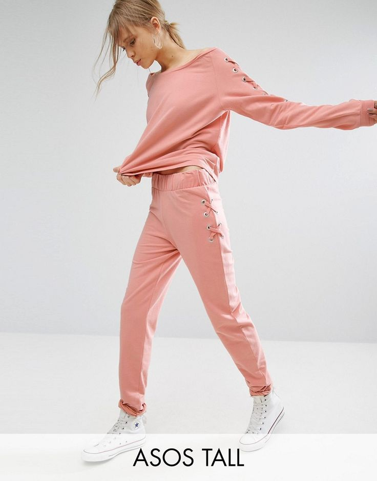 ASOS TALL LOUNGE Lace Up Jogger - Multi