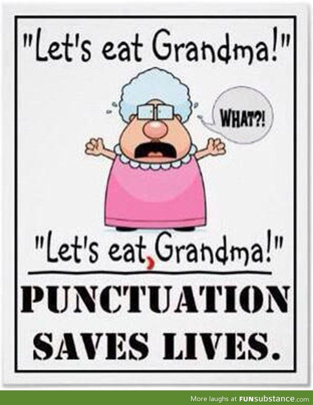 Grammer saves life!