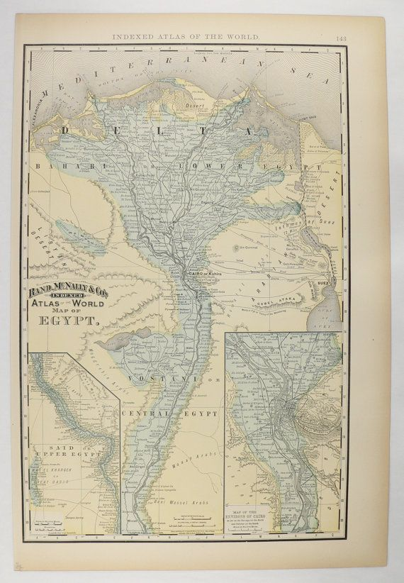 Best Cairo Map Ideas On Pinterest Home Map First Home - Vintage map of egypt