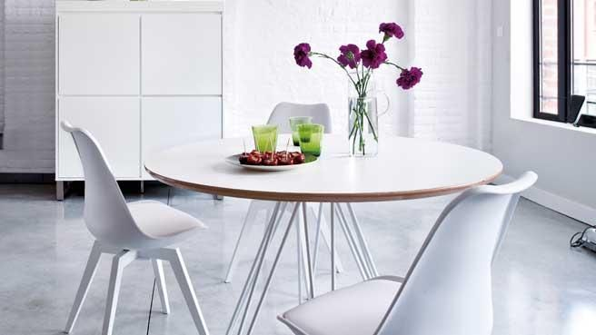 17 best ideas about table ronde design on pinterest - Table ronde pied central inox ...