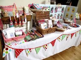 craft stall display - Google Search--love the triangle flag banner around the table--gives me an idea!!!