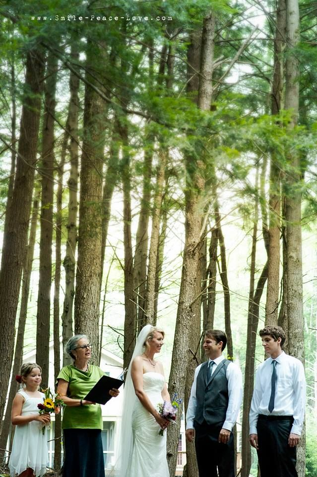 sometimes the location is everything... no decor needed! this ceremony took place in a beautiful wooded spot behind the couple's home!: Lois Rocks, Lois Heckman, Wedding Ideas, 2013 Weddings, Place, Thoughtful Wedding, Wedding Looks