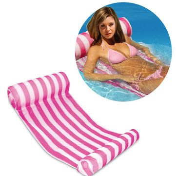 Color Stripe Outdoor Floating Sleeping Bed Water Hammock Pool Accessories With Air Pump