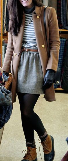 love the shoes, tights, skirt, belt, shirt, & jacket