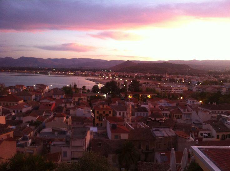 sunset from our hotel- Amfitriti Palazzo