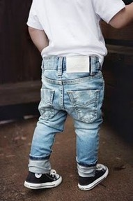 little boy skinny jeans. so cute but not sagging