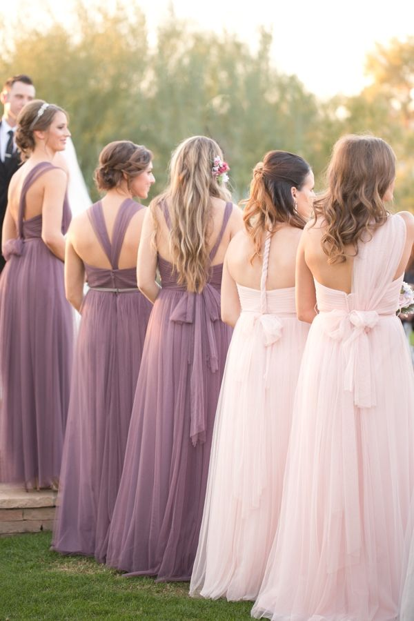 Glitzy And Glamorous Wedding In Pink Amp Purple Vestidos