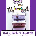 Snowman {Snowman Sequencing Card Craft}