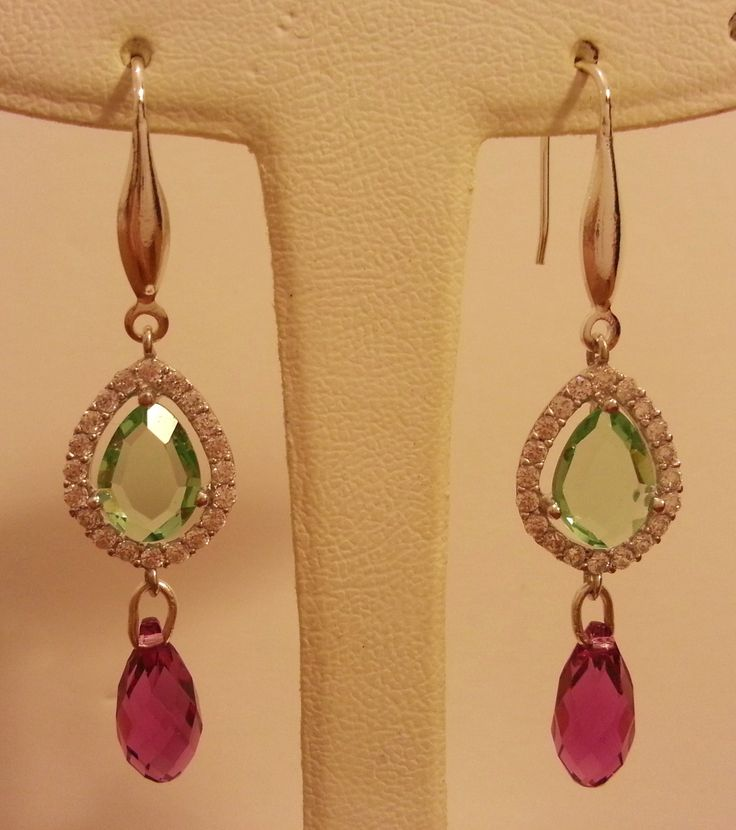 Swarovski silver earrings