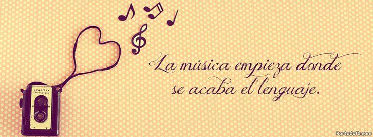 Portadas para FaceBook de musica con frases - Imagui