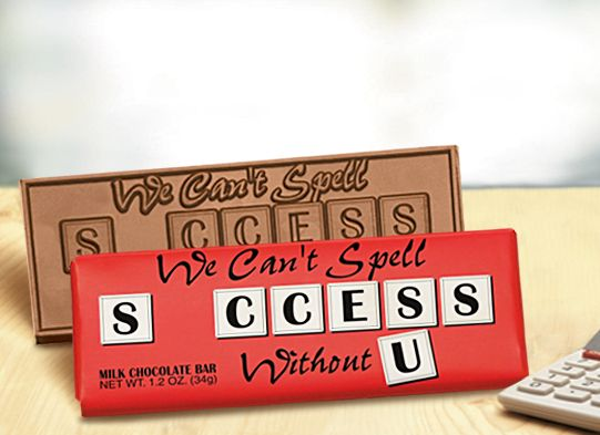 We Cant Spell Success Without U Chocolate Bars