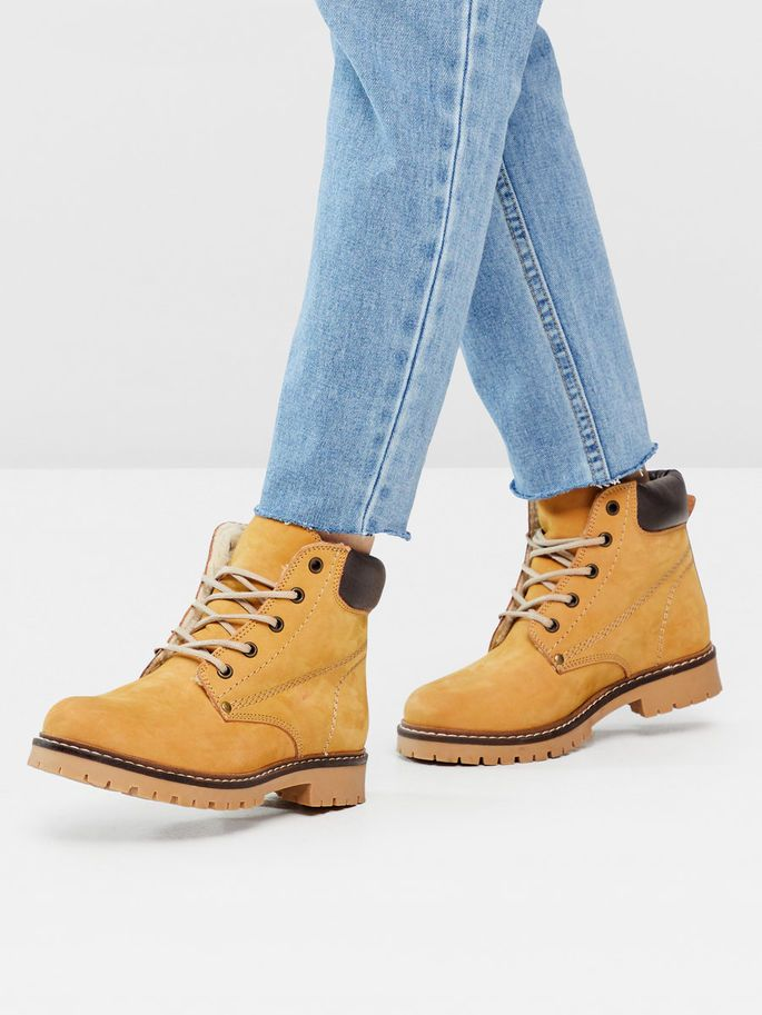 WARM WORKER BOOTS, Mustard, large
