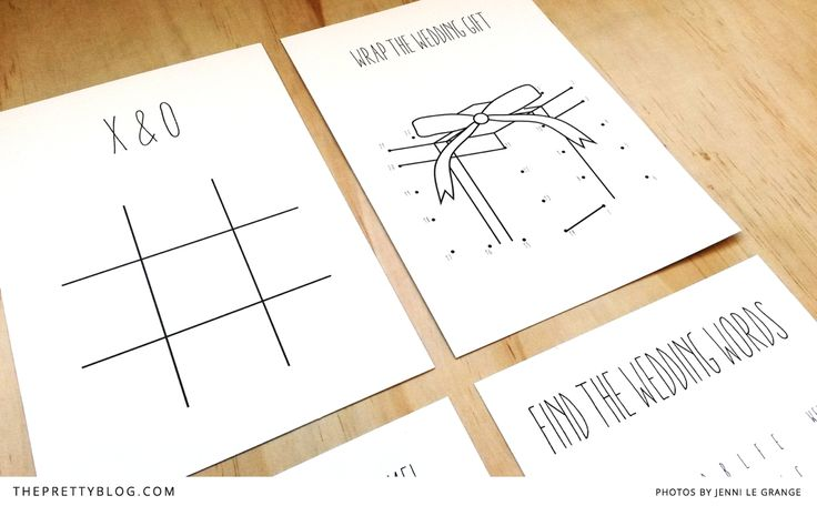 Free Wedding GamePrintables forThe Little Ones | Printables | The Pretty Blog
