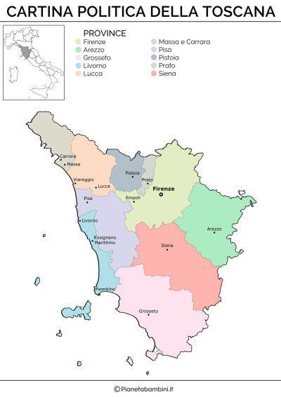 Cartina Muta Fisica E Politica Della Toscana Da Stampare Bellezza