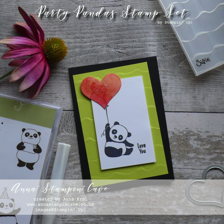 Anna' Stampin' Cave Party Pandas Valentine For Stampin' Dreams Blog Hop Hello everyone! Welcome to the monthly Stampin' Dreams Blog Hop. This month's theme is Love. You are currently visiting Anna Krol from United Kingdom. I hope you enjoy my project. It's my first time 'hopping' with Stampin' Dreams crew. And I've got for you …
