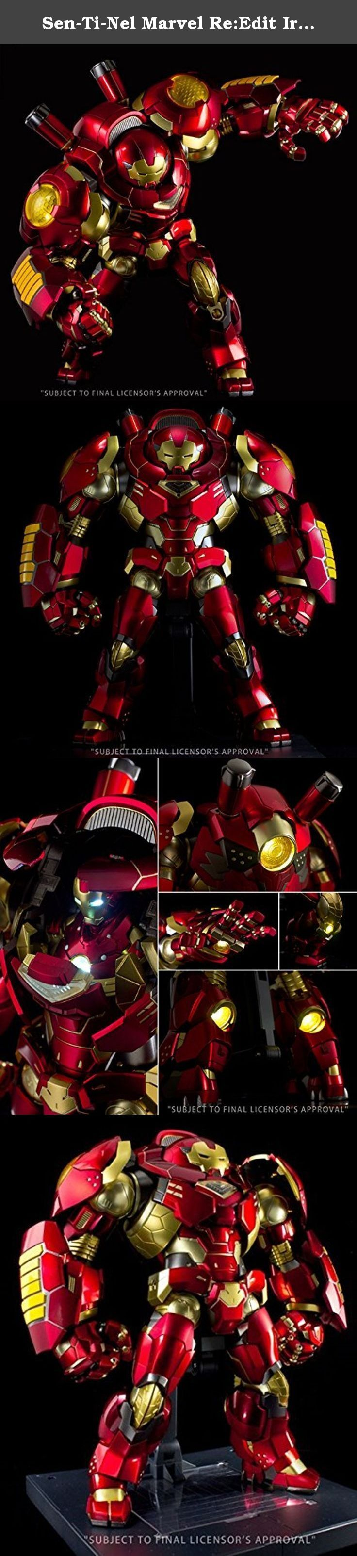 Sen-Ti-Nel Marvel Re:Edit Iron Man Hulkbuster Action Figure. Introducing the 5th installment in the RE:EDIT IRON MAN series: Hulkbuster, the anti-Hulk armor! This beast has a ton of amazing features including retraction for the head armor, opening and closing gimmicks for the chest hatch, and LED lights throughout its body. Also with the upper torso of the Bleeding Edge armor inside, (complete with light-up gimmicks for its eyes and Arc Reactor), the Hulkbuster armor is a truly massive…