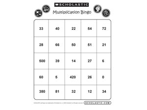 Make multiplication fun! Kids can practice the times tables with this multiplication take on classic bingo. Download all 5 bingo sheets.