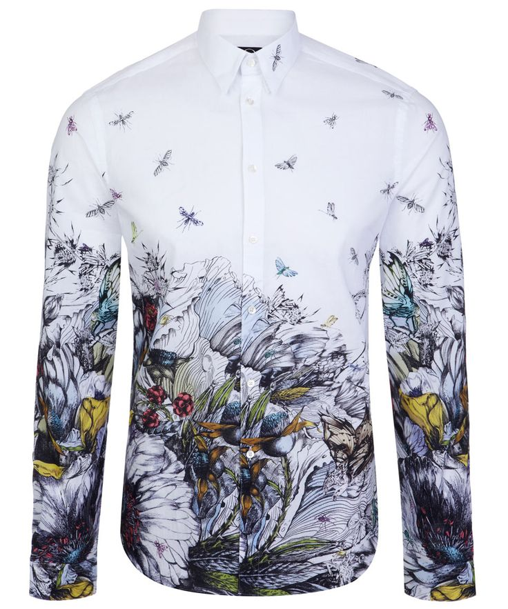 White Toxic Bird Print Shirt, Alexander McQueen Men's. Shop more shirts from the Alexander McQueen Men's shirts online at Liberty.co.uk