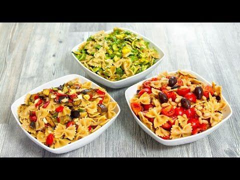 3 IDEE FACILI e GOLOSE per preparare la PASTA FREDDA | INSALATA DI PASTA | Healthy Pasta Salad - YouTube