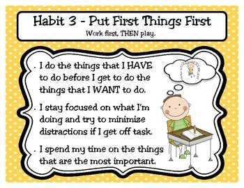 FREE POSTER DOWNLOADS: If you teach the 7 Habits of Happy Kids (The 7 Habits of Highly Effective People) by Sean Covey, these posters are the perfect addition to your classroom! Not only do these posters list the habits and define them, but they also give examples of desirable classroom behaviors that go along with each habit. Enjoy!