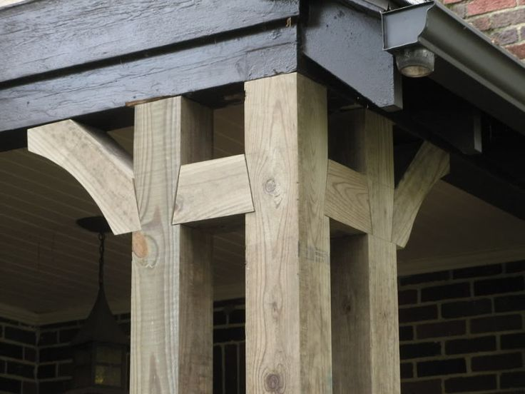 Porch posts houses and homes pinterest for Arts and crafts porch columns