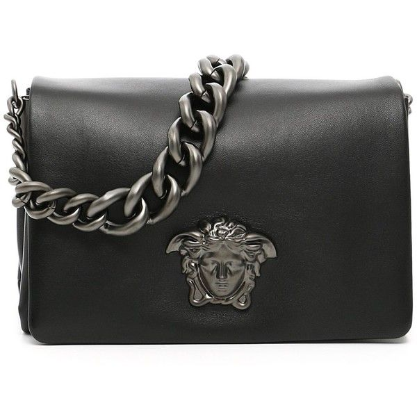 Versace Bags ($1,475) ❤ liked on Polyvore featuring bags, handbags, shoulder bags, leather purses, leather shoulder handbags, genuine leather shoulder bag, versace purses and pocket purse