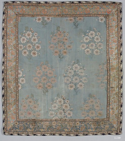 #Textile -- Cover -- 17th Century -- Iran -- Silk -- Metropolitan Museum of Art