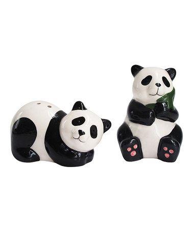 Look what I found on #zulily! Panda Salt & Pepper Shakers #zulilyfinds
