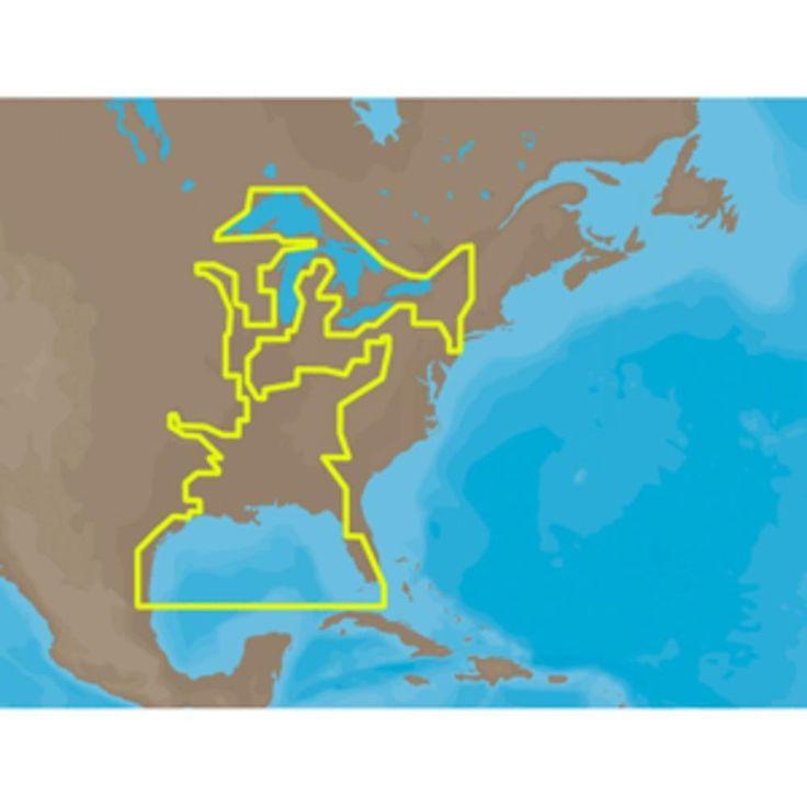 C-MAP MAX NA-M023 - U.S. Gulf Coast & Inland Rivers - SD™ Card