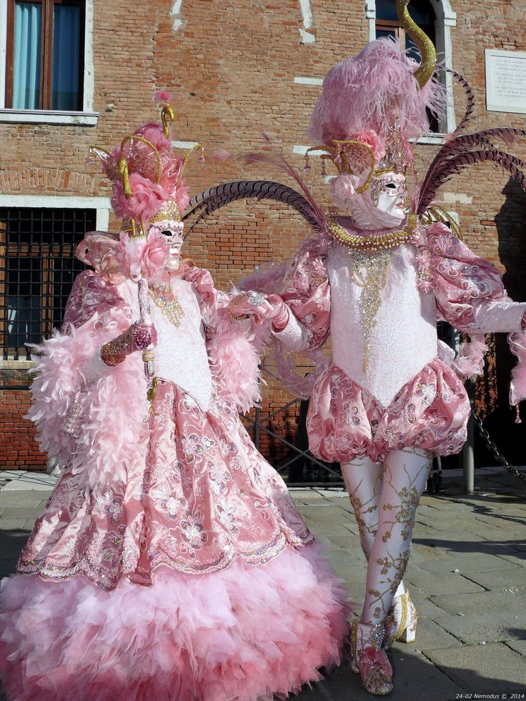 Carnival of Venice 2014 - Definitely in the Pink with these costumes.  Flickr - Photo Sharing!