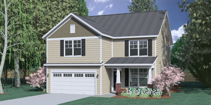 "House Plan 2239A MAGNOLIA ""A"" elevation 2239 Square"