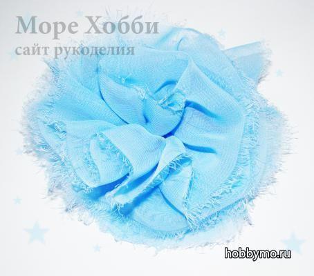 Делаем украшение для волос Цветок из ткани