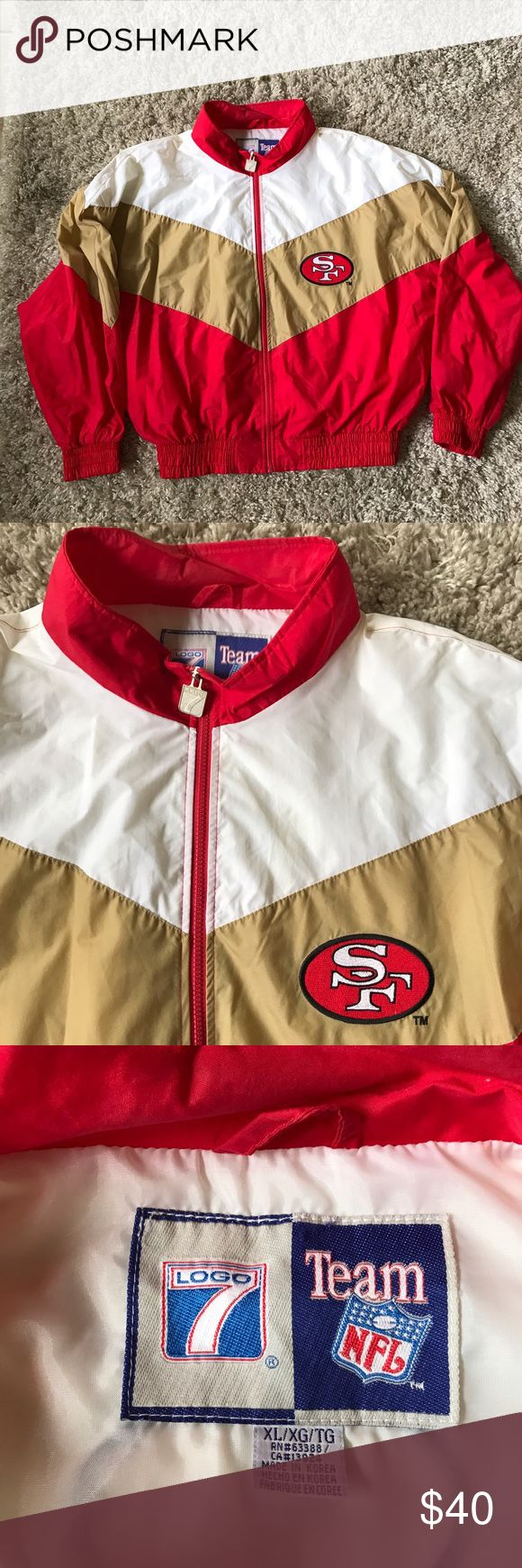 Vintage football jacket 49ers 90s (not nike) Not nike!! / men's jacket vintage football team / 49ers / men's size Xl / great condition Nike Jackets & Coats
