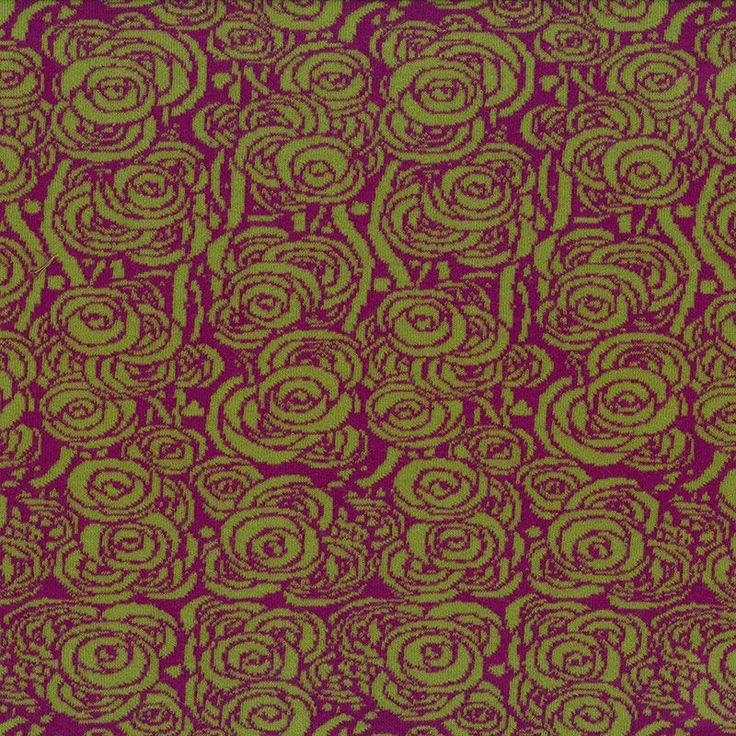 Bw-Jacquard Rose lila-grün