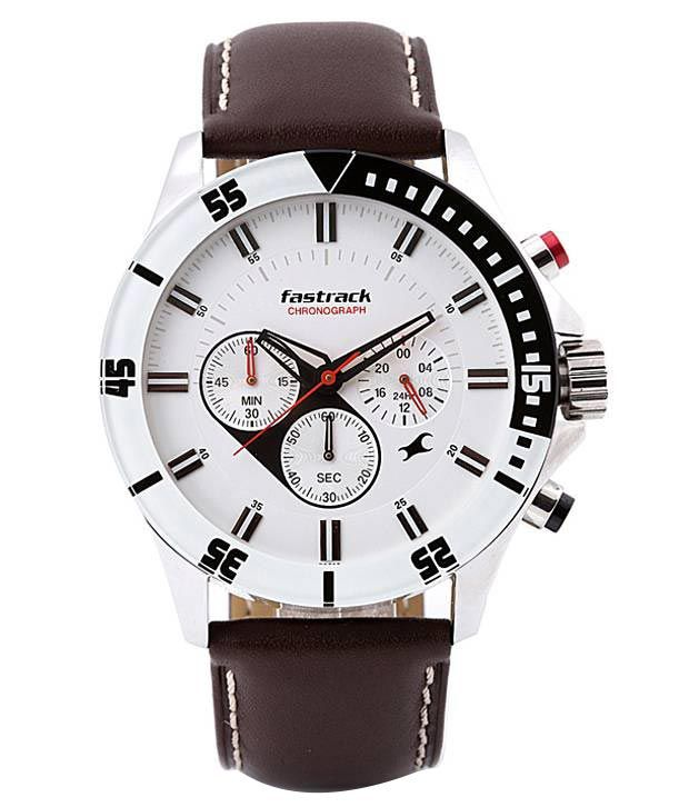 e4e51973ae4 Fastrack Brown Leather Chronograph Watch - Snapdeal