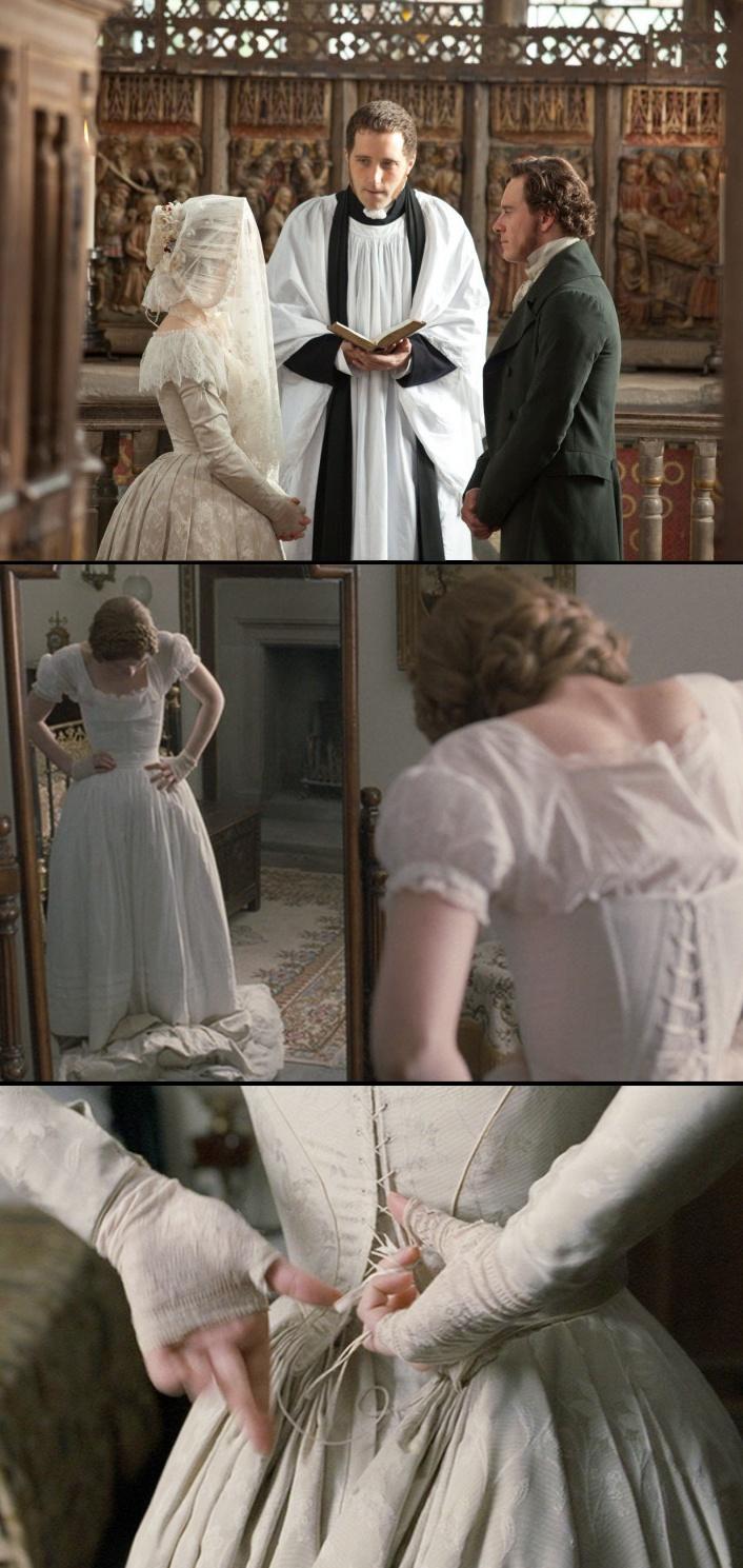 Jane Eyre wedding dress. Costume Designer: Michael O'Conner